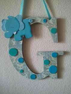 Custom Nursery LettersSET of 3 Ribbon can be added by sassysamz, $39.99