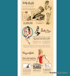 Top 10 Famous Pinups, Of All Time? Infographic