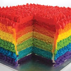 A rainbow cake is fun to look at and eat and a lot easier to make than you might think. Here's a step-by-step guide for how to make a rainbow birthday cake. Rainbow Food, Taste The Rainbow, Over The Rainbow, Rainbow Stuff, Rainbow Hair, Blueberries, Rainbow Birthday, Birthday Cake, Rainbow Layer Cakes