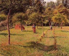 Enclosed Field at Eragny - Camille Pissarro