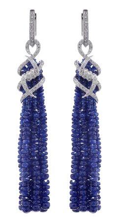 Stephen Webster Sapphire & White Diamond Earrings