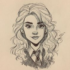 Hermione Granger from Harry PotterYou can find Hermione and more on our website.Hermione Granger from Harry Potter Pintura Do Harry Potter, Harry Potter Painting, Harry Potter Artwork, Harry Potter Drawings, Girl Drawing Sketches, Cool Art Drawings, Pencil Art Drawings, Cartoon Drawings, Drawing Eyes