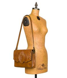 Gold:Burnished Tooled Collection Santillana Cross Body