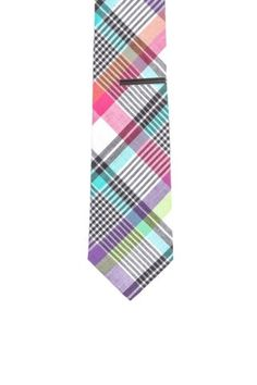 Pastel Plaid Tie.