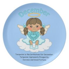 December Birthstone Angel Brunette Dinner Plate  http://www.zazzle.com/december_birthstone_angel_brunette_dinner_plate-115667081298045114?rf=238631258595245556