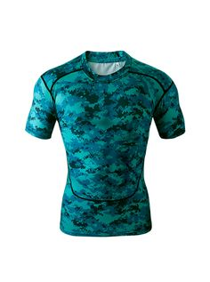 camouflage shirts New Men camo clothing Compression shirts Tights T Shirts Bodybuilding Outdoor Sports Wear Gym Running shirt