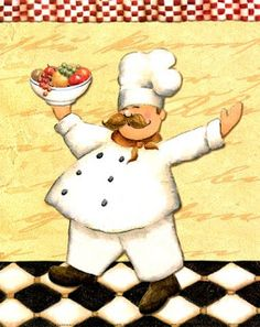 Le Chef Et Le Fruits by Daphne Brissonnet art print