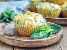 Muffins épinards/ feta : Recette de Muffins épinards/ feta - Marmiton
