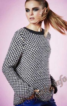 Пуловер (ж) 23*110 Phildar №4279