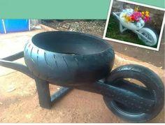 Carretilla de neumáticos usados