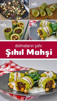 How to make Şıhıl Mahşi (King of Stuffed) Recipe? Spinach Artichoke Pasta, Turkish Recipes, Ethnic Recipes, Eggplant Dishes, Wie Macht Man, Food Blogs, Nutritious Meals, Relleno, Eating Habits