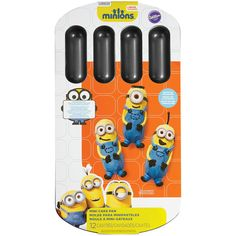 Wilton Minions 12-Cavity Cake Pan ($8.99) ❤ liked on Polyvore featuring home, kitchen & dining, bakeware, wilton cake pans, wilton bakeware, aluminum cake pan, wilton and aluminum bakeware