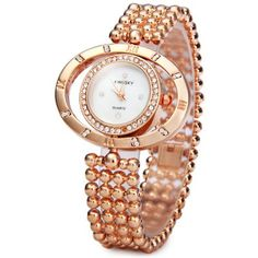 Kingsky 4551 Ladies Quartz Watch Diamond Round Dial Japanese Movt