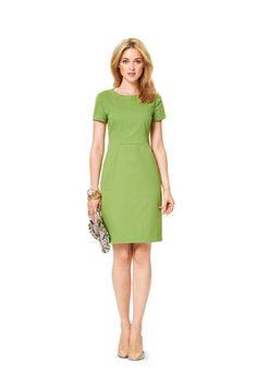 Schnittmuster: Kleid – interessante Nahtführung - Kleider - Katalogschnitte - burda style