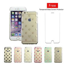 Polka Dotted iPhone 6s Case - A perfect stocking stuffer for your teen! Beautiful, cute design makes your iPhone look unique, you can find the one fits your mood for nearly any occasion. The case is created with a highly flexible material that feels great in your hand and will not warp.