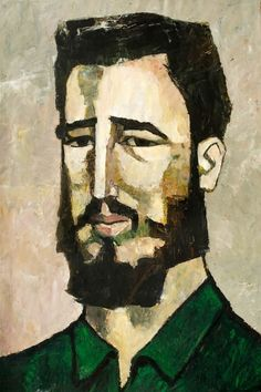 Portrait of Fidel Castro, 1961 Oswaldo Guayasamin - by style - Expressionism. Drawings of famous people. Quito, Fidel Castro, Equador, Illustration Art, Illustrations, Art Database, Life Drawing, Portrait Art, Male Portraits