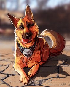 Get a load of this dog!  via @i-got-spurs  dogmeat fallout fallout dogmeat fallout dog