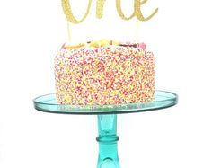 Twenty one glitter cake topper 21 birthday cake topper