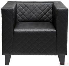 Arm Chair Cube Step Black