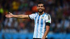 Garay. Uno de los argentinos que esta haciendo un gran Mundial.