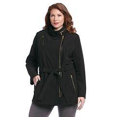Product: MICHAEL Michael Kors® Plus Size Asymmetrical Belted Coat