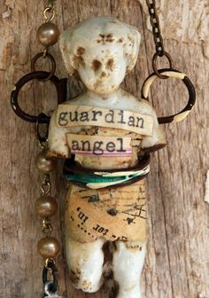 Frozen Charlotte Guardian Angel Ornament by VintageSupplyCo