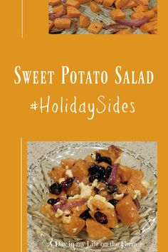 A Day in the Life on the Farm: Sweet Potato Salad #HolidaySides Best Soup Recipes, Healthy Salad Recipes, Amazing Recipes, Potato Recipes, Veggie Recipes, Fall Recipes, Wine Recipes, Holiday Recipes, Salad With Sweet Potato