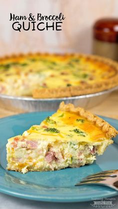 This Ham and Broccoli Quiche is the perfect recipe to use up leftover holiday ham!