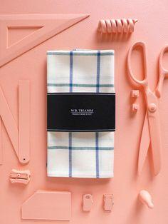 Charlie Men's Pocket Square Handkerchief Cotton White by WBTHAMM, $26.00