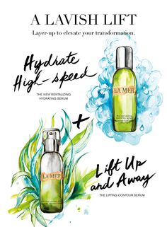 Custom-cultivate your serum regimen with the continuous hydration and energy of the New Revitalizing Hydrating Serum and the enhanced elevation of The Lifting Contour Serum for a lavish lift.