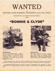 Set of 5 Gangster Wanted Posters, Bonnie & Clyde, Al Capone, Baby Face Nelson… Bonnie Clyde, Bonnie And Clyde Photos, Bonnie Parker, Old Pictures, Old Photos, Vintage Photos, Rare Photos, Baby Face Nelson, Famous Outlaws
