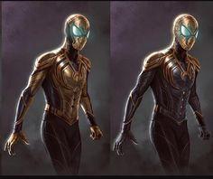 Spider-man Vibranium Wakandan Suit by Jason Pastrana. Shuri and Peter need to meet like now! All Spiderman, Spiderman Suits, Amazing Spiderman, Superhero Suits, Superhero Design, Marvel Comic Universe, Marvel Dc Comics, Dr Octopus, Hq Dc