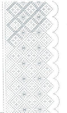 Encajeras la Hilandera: Picado flor Bobbin Lace Patterns, Tatting Patterns, Weaving Patterns, Crochet Patterns, Cross Stitch Embroidery, Hand Embroidery, Cross Stitch Patterns, Bobbin Lacemaking, Recycled Art Projects