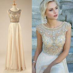 Straps Beading Crystal Prom dress 14119