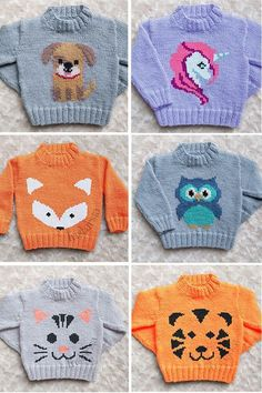 Knitting Pattern for Baby and Child Sweaters with Animals - Designer Emma Heywoo.Knitting Pattern for Baby and Child Sweaters with Animals - Designer Emma Heywoo. Knitting Pattern for Baby and Child Sweaters with Animals - Design. Baby Sweater Knitting Pattern, Animal Knitting Patterns, Knit Baby Sweaters, Knit Patterns, Unicorn Knitting Pattern, Baby Sweater Patterns, Knitted Baby Cardigan, Fox Pattern, Baby Knitting Patterns Free Newborn