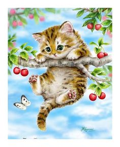 Diamond Embroidery DIY Diamond Painting Cute cat with butterfly Picture Diamond Painting Cross Stitch Cute Kittens, Cats And Kittens, Cats Bus, Siamese Cats, Animals And Pets, Cute Animals, Image Chat, Mosaic Pictures, Little Kitty