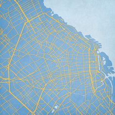 The World - City Prints Map Art Buenos Aires