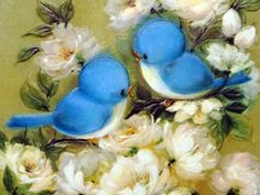 Bluebird pinterest bird vintage and tattoo illustration from a vintage embossed hallmark get well greeting card with bluebirds and flowers m4hsunfo Image collections