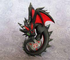 Dragon on D20 by DragonsAndBeasties.deviantart.com on @deviantART: