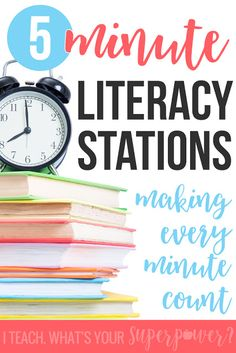 No time for literacy stations in your classroom or intervention lessons?  Here's how you can squeeze it in even if you only have 5 minutes.