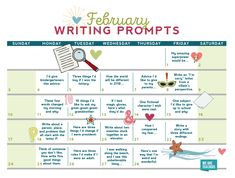 Celebrate the art of writing and journaling with this free writing prompts calendar! For every school day, we have a different prompt. Writing Prompts 2nd Grade, Third Grade Writing, Journal Writing Prompts, Sorry Letter, February Journal, We Are Teachers, Writing Promts, Brain Breaks, School Days