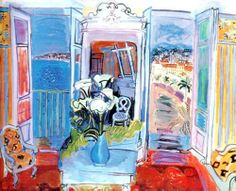 Interior With Open Window by Raoul Dufy Handmade oil painting reproduction on canvas for sale,We can offer Framed art,Wall Art,Gallery Wrap and Stretched Canvas,Choose from multiple sizes and frames at discount price. Raoul Dufy, Monet, Find Art, Harlem Renaissance, Open Window, Oil Painting Reproductions, Henri Matisse, French Artists, Van Gogh