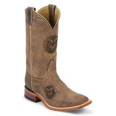 Nocona Mens Colorado State Brown Cowhide Branded MDCSU12