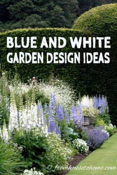 house flower garden 471259548507784034 - These blue and white garden design ideas are gorgeous! I really love the blue and white ginger jars used as garden decor in the yard. This is one of my favorite flower garden color schemes! Blue Plants, White Plants, White Flowering Plants, Design Jardin, Garden Design, Landscape Design, Easy Garden, Garden Ideas, Fence Garden