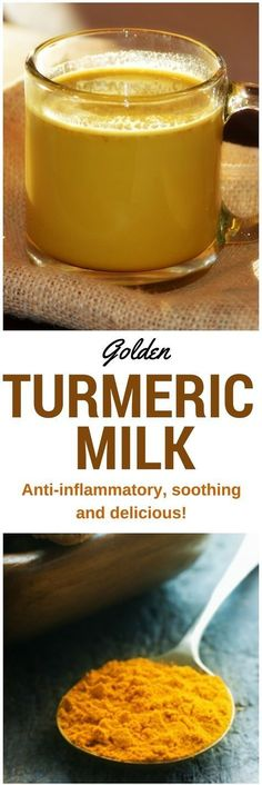 Turmeric Milk A cup before bedtime contains anti-inflammatory, anti-oxidant, and circulation-boosting properties in a warm, deliciously soothing drink. Smoothie Drinks, Detox Drinks, Healthy Drinks, Healthy Snacks, Healthy Recipes, Yogurt Smoothies, Healthy Nutrition, Anti Inflammatory Drink, Inflammatory Foods