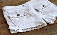 Renueva tus shorts con puntilla o encaje!