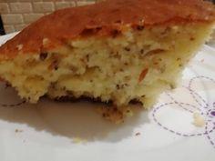 Αφράτο κέικ με γιαούρτι και λιναρόσπορο Pie, Desserts, Food, Torte, Tailgate Desserts, Cake, Deserts, Fruit Cakes, Essen