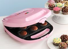 Amazon.com: Babycakes CC-2828PK Cupcake Maker, Pink, 8 Cupcakes: Kitchen & Dining  - perfect for settling my baking enthusiasm