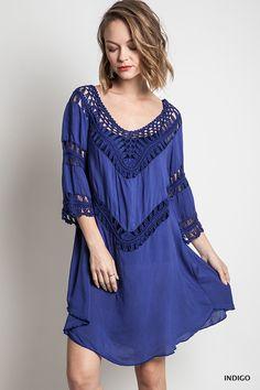 Our gorgeous Indigo Dress - Nobella Grace Boutique #springfashion #nobellagrace
