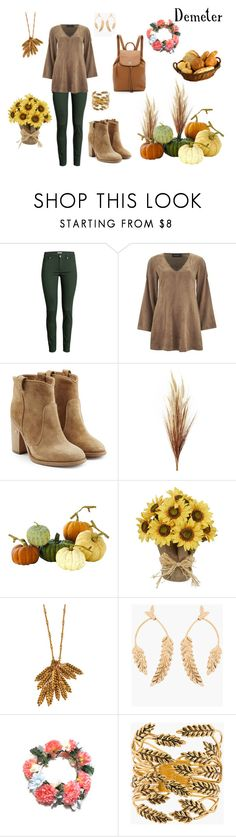 """Demeter"" by le-piano-argent ❤ liked on Polyvore featuring H&M, MINKPINK, Laurence Dacade, Home Decorators Collection, Aurélie Bidermann and Tory Burch"